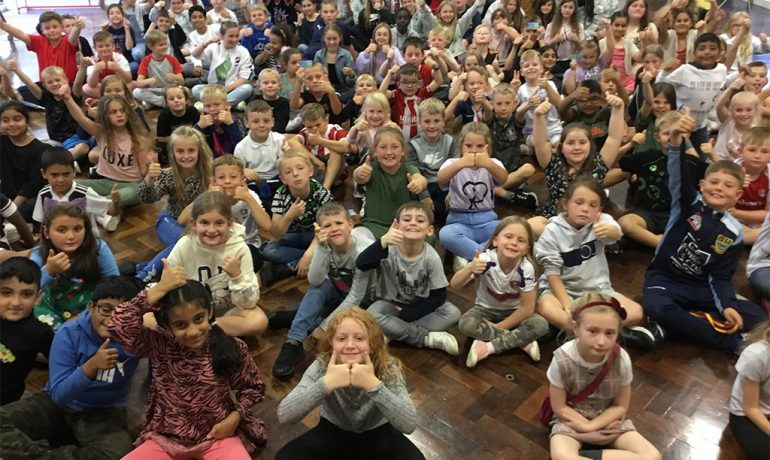 Upper Key Stage 2 Achieve Bronze Pledge for Volunteering and Charity