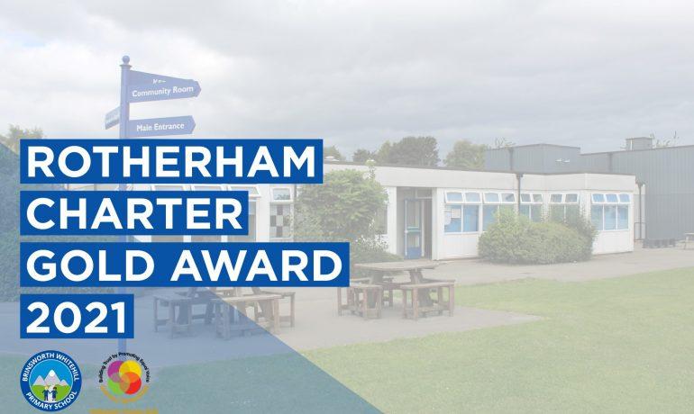 Brinsworth Whitehill Receive Rotherham Charter Gold Award