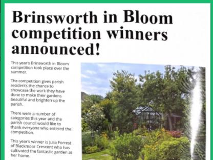 Brinsworth in Bloom Winners!